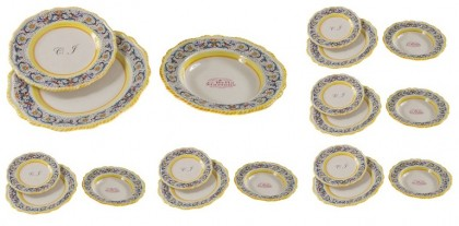 6 - Plate sets ( 18pcs ) decoration Ricco Blu