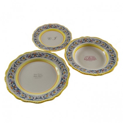 Plate set (3pcs) -  Decoration Ricco Blu